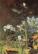 Arun and Conservatory Plants 1864 - Pierre Auguste Renoir