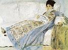 Mme Monet Reading Le Figaro1872 - Pierre Auguste Renoir