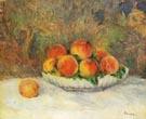 Still Life with Peaches c1880 - Pierre Auguste Renoir