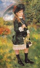 Young Girl with Parasol Aline Nunes 1883 - Pierre Auguste Renoir