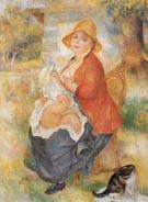 Mother Nursing Her Child 1886 - Pierre Auguste Renoir