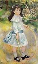 Girl with a Hoop Marie Goujon 1885 - Pierre Auguste Renoir
