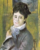 Portrait of Madame Claude Monet 1872 - Pierre Auguste Renoir