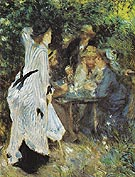 Under the Arbour at the Moulin de la Galette c1876 - Pierre Auguste Renoir