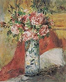 Roses in a Vase c1876 - Pierre Auguste Renoir