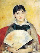 Woman with a Fan c1880 - Pierre Auguste Renoir