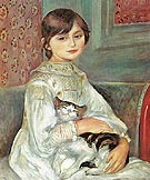 Julie Manet with Cat 1887 - Pierre Auguste Renoir