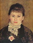 Woman with White Jabot 1880 - Pierre Auguste Renoir