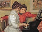 Yvonne and Chritine Leolle at the Piano 1897 - Pierre Auguste Renoir