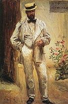 Charles Le Coeur in His Garden 1874 - Pierre Auguste Renoir