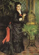 Woman with Parrot 1871 - Pierre Auguste Renoir