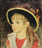 Child with Hat 1881 - Pierre Auguste Renoir