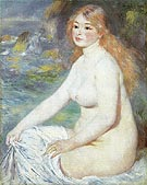 Blonde Bather 1881 - Pierre Auguste Renoir
