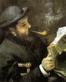 Claude Monet Reading 1872 - Pierre Auguste Renoir