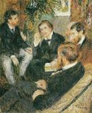 Scene in Renoirs Studio Rue St Georges c1876 - Pierre Auguste Renoir