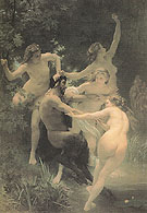 Nymphs and Satyr 1873 - William Bouguereau