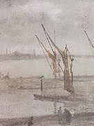 Chelsea Wharf Grey and Silver c1875 - James McNeil Whistler