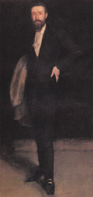Arrangement in Black Portrait of F R Leyland 1870 - James McNeil Whistler