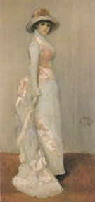 Harmony in Pink and Grey Portrait of Lady Meux c1881 - James McNeil Whistler