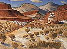 Canyon Totem Erosional Remnant 1982 - Alexandre Hogue