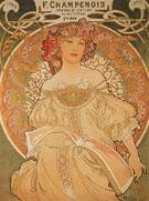 F Champenois France 1898 - Alphonse Mucha