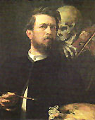 Self Portrait with Death Playing the Fiddle 1872 - Arnold Bocklin