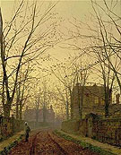Autumn Evening Leeds 1883 - Atkinson Grimshaw