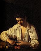 Boy Peeling a Fruit 1593 - Caravaggio