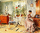 An Interior with a Woman Reading 1885 - Carl Larsson