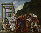 Moses Defending the Daughters of Jethro c1609 - Carlo Saraceni