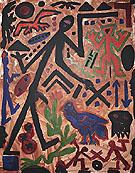 Untitled Das Laue Huhn 1990 - A R Penck
