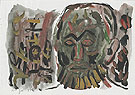 Untitled Selbstbildnis I 1987 - A R Penck