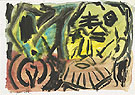 Untitled Self Portrait 1987 - A R Penck