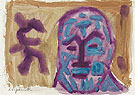 Untitled Self Portrait 2 1987 - A R Penck