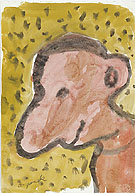 Untitled Self Portrait 3 1987 - A R Penck