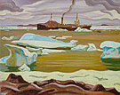 The Beothic at Bache Post Ellesmere Island 1929 - A.Y. Jackson