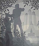 The Founding of Chicago c1933 - Aaron Douglas