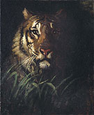 Tiger Head c1874 - Abbott Handerson Thayer