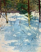 Winter Monadnock c1900 - Abbott Handerson Thayer