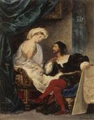 Lovers in 16th Century Costume c1800 - Achille Deveria