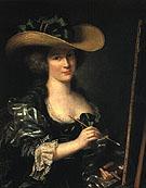 Portrait of the Artist Wearing a Beribboned Hat - Adelaide Labitte Guiard
