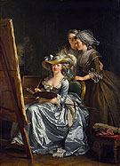 Self Portrait with Two Pupils 1785 - Adelaide Labitte Guiard