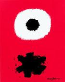 White Disc Red Ground c1967 - Adolph Gottleib