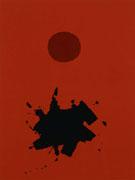 Red Ground Maroon Disc 1966 - Adolph Gottleib