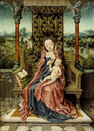 Madonna and Child Enthroned - Aelbert Bouts
