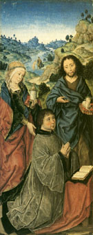 Mary Magdalene St John the Baptist and a Donor - Aelbert Bouts