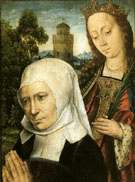 Donor with Saint Barbara - Aelbert Bouts