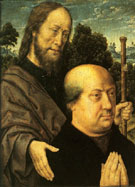 Donors with Saints Jacob and Barbara - Aelbert Bouts