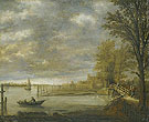 Landscape with A View of Dordrecht From The South With A Lumber Yard - Aelbert Cuyp
