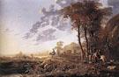 Evening Landscape with Horsemen and Shepherds - Aelbert Cuyp